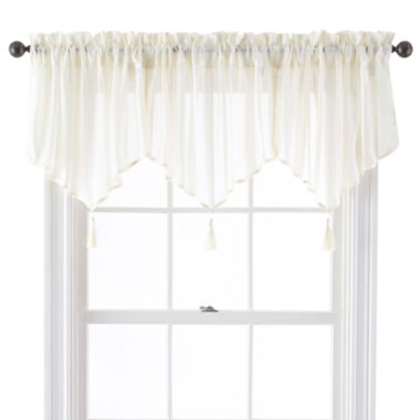 jcpenney.com | Queen Street® Farmington Rod-Pocket Sheer Ascot Valance