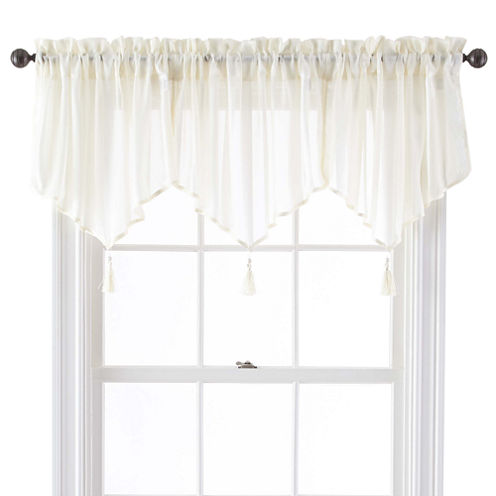 Queen Street® Farmington Rod-Pocket Sheer Ascot Valance