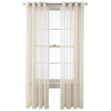 jcpenney.com | MarthaWindow™ Corinth Grommet-Top Sheer Panel