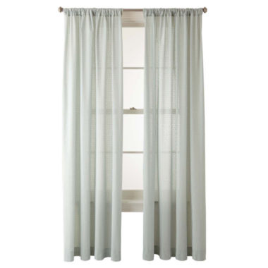 jcpenney.com | JCPenney Home™ Ascension Rod-Pocket Swiss Dot Cotton Sheer Panel