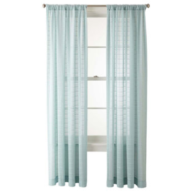 jcpenney.com | JCPenney Home™ Alexander Rod-Pocket Sheer Panel