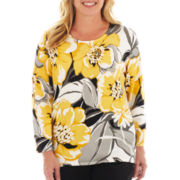 Alfred Dunner® Monte Carlo Floral-Print Sweater - Plus