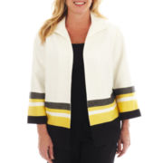 Alfred Dunner® Monte Carlo Textured Border Jacket - Plus