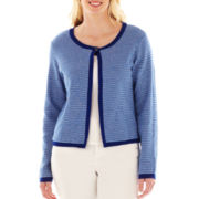 Liz Claiborne Cropped Cardigan Sweater - Plus