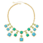 Monet® Blue and Green Stone Gold-Tone Drama Necklace