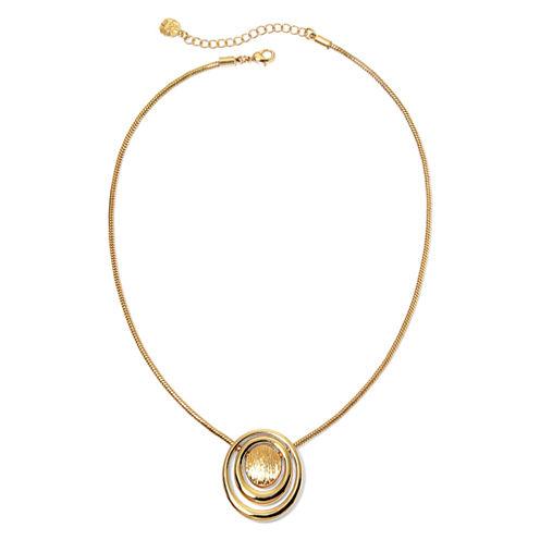 Monet® Gold-Tone Pendant Necklace