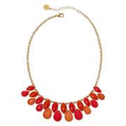 Liz Claiborne® Coral Stones Gold-Tone Shower Necklace