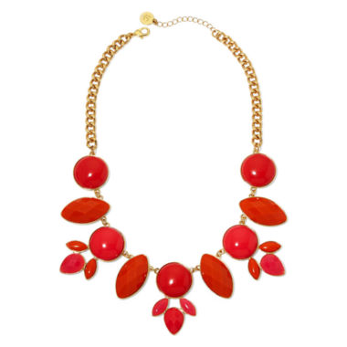 jcpenney.com | Liz Claiborne® Coral Stones Gold-Tone Drama Collar Necklace
