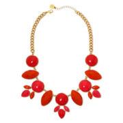 Liz Claiborne® Coral Stones Gold-Tone Drama Collar Necklace