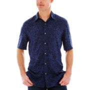 Claiborne® Short-Sleeve Printed Shirt