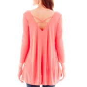 Love by Design 3/4-Sleeve Cross-Back Tunic Tee