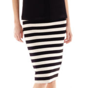 by&by Striped Midi Skirt