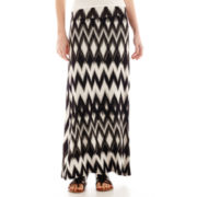 by&by Print Knit Maxi Skirt