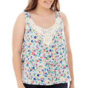 Arizona Crochet-Trim Tank Top - Plus