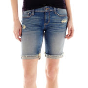 Arizona Raw-and-Roll Cuff Bermuda Shorts