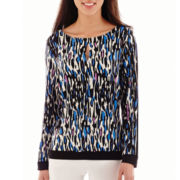 Worthington® Long-Sleeve Keyhole Top - Petite