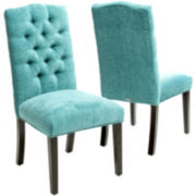 Macie Set of 2 Tufted Parsons Dining Chairs