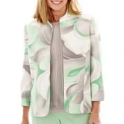 Alfred Dunner® High Tea 3/4-Sleeve Abstract Print Jacket