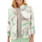 Alfred Dunner® High Tea 3/4-Sleeve Abstract Print Jacket