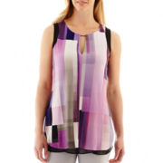 Worthington® Sleeveless Colorblock Tunic Top
