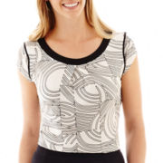Worthington® Cap-Sleeve Boatneck Top