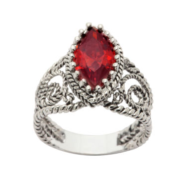 jcpenney.com | Sparkle Allure Womens Red Cubic Zirconia Silver Over Brass
