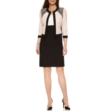 jcpenney.com | Studio 1 3/4 Sleeve Jacket Dress