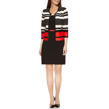 jcpenney.com | Studio 1 3/4 Sleeve Belted Jacket Dress