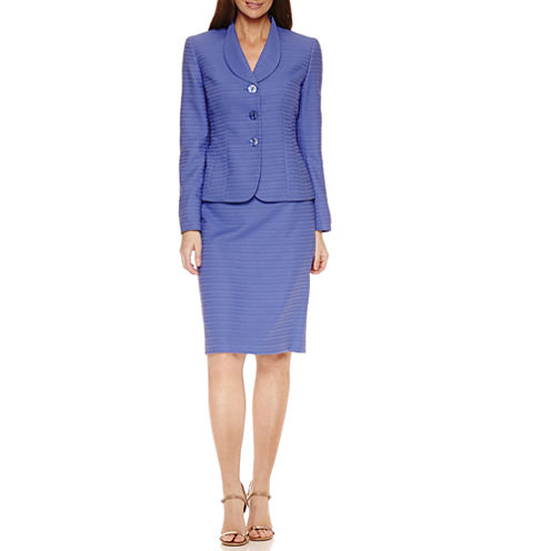Le Suit Long Sleeve 3-Button Skirt Suit Set
