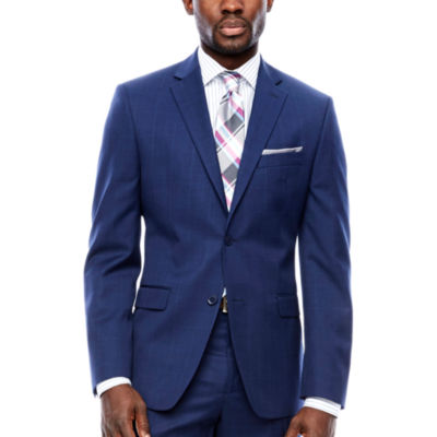 Collection by Michael Strahan  Slim Fit Plaid Suit Jacket