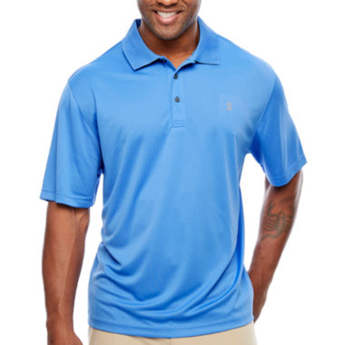 jcpenney.com | IZOD Short Sleeve Grid Woven Polo Shirt Big and Tall