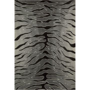 Nourison® Black Tiger High-Low Carved Rectangular Rugs