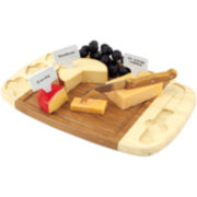 Picnic Time Delio Bamboo Cheeseboard with Porcelain Markers