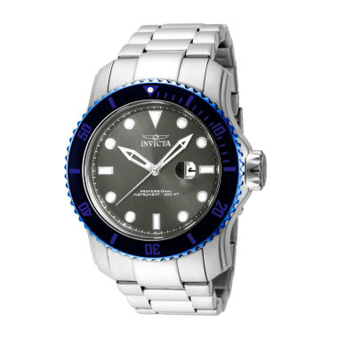 jcpenney.com | Invicta® Mens Black Dial Stainless Steel Watch 15077