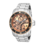 Invicta® Mens Rose Gold-Tone Stainless Steel Multifunction Watch