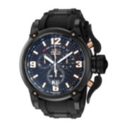 Invicta® Mens Black Ion-Plated Stainless Steel Chronograph Watch