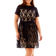 Danny & Nicole® Lace Fit-and-Flare Dress