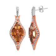 Alexandra Gem Lab-Created Citrine & White Sapphire Earrings