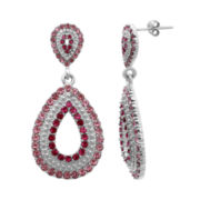 Alexandra Gem Multi Red & Clear Crystal Teardrop Earrings