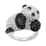 Alexandra Gem Lab-Created Sapphire & Crystal Panda Bear Ring