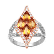 Alexandra Gem Yellow Quartz & White Sapphire Ring