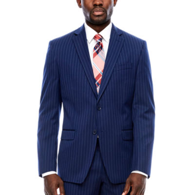 Collection by Michael Strahan  Classic Fit Stripe Suit Jacket
