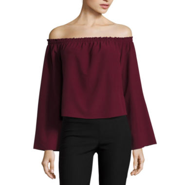 jcpenney.com | Fire Long Sleeve Woven Blouse-Juniors