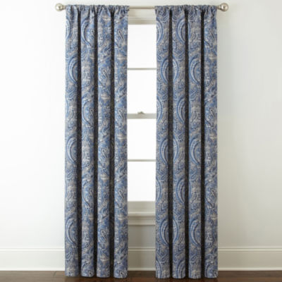 Royal Velvet Florence Room Darkening Rod-Pocket Back-Tab Curtain Panel