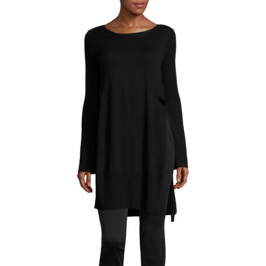 jcpenney.com | Worthington Long Sleeve Scoop Neck Pullover Sweater