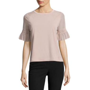 jcpenney.com | Worthington Short Sleeve Scoop Neck Knit Blouse