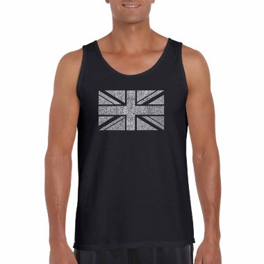 "jcpenney.com | Los Angeles Pop Art Short Sleeve ""Me Union Jack"" T-Shirt-Big And Tall"