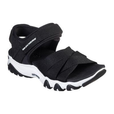 Skechers D'Lites 2.0 Mega Summer Womens Adjustable Strap Footbed Sandals