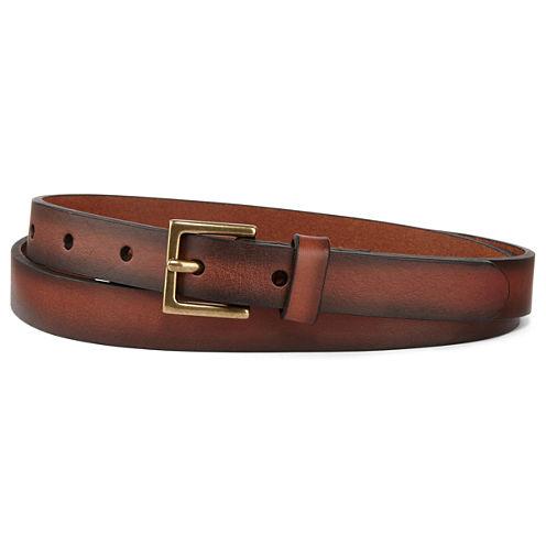 Mixit™ Leather Skinny Belt