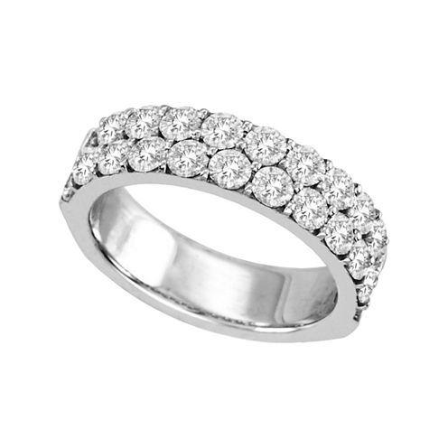 2 CT. T.W. Diamond Band 14K White Gold